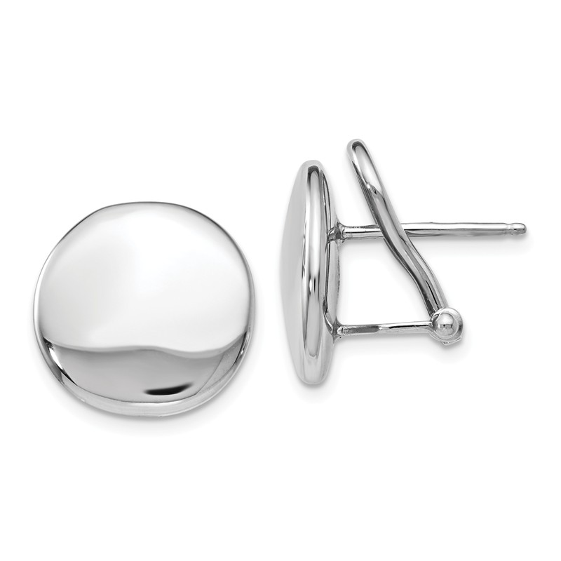 Leslies Sterling Silver Polished Ball Post Earrings