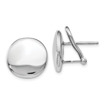 Leslie's Sterling Silver Polished Omega Back Post Earrings