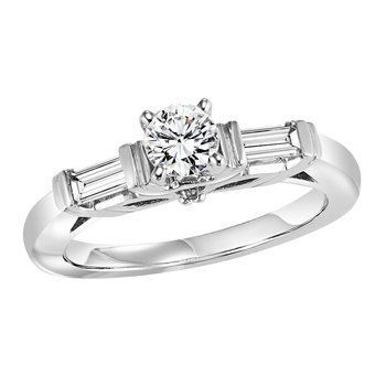 14K Diamond Enagement Ring 1/3 ctw with 3/4 ct Center
