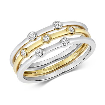 Diamond Ring Set Of 3