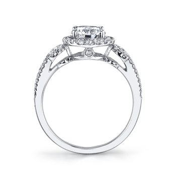 25130 Diamond Engagement Ring 0.52 ct tw