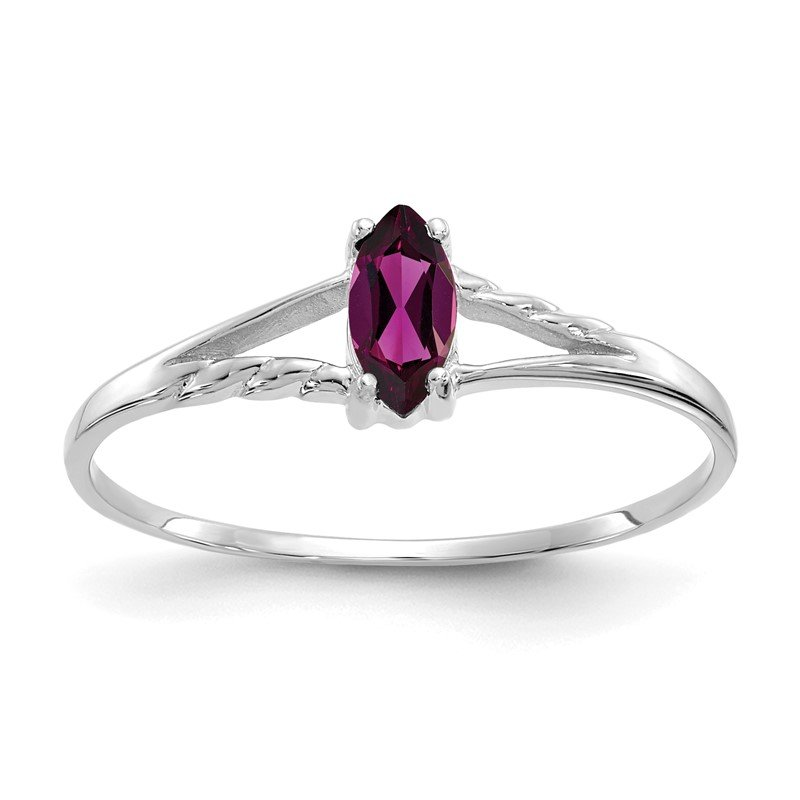 Quality Gold 14k White Gold Rhodolite Garnet Birthstone Ring
