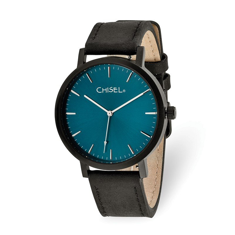 Chisel Chisel Matte Black IP-plated Blue Dial Watch
