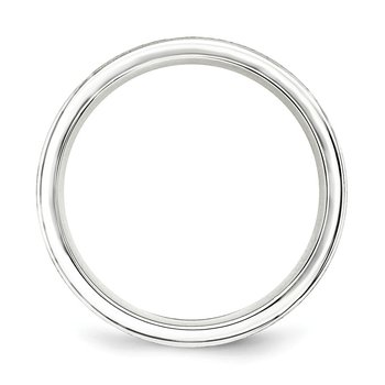 SS 6mm Brushed Fancy Band Size 10