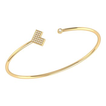 One Way Cuff in 14 KT Yellow Gold Vermeil on Sterling Silver