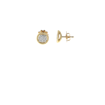 18Kt Yellow And White Gold Earrings