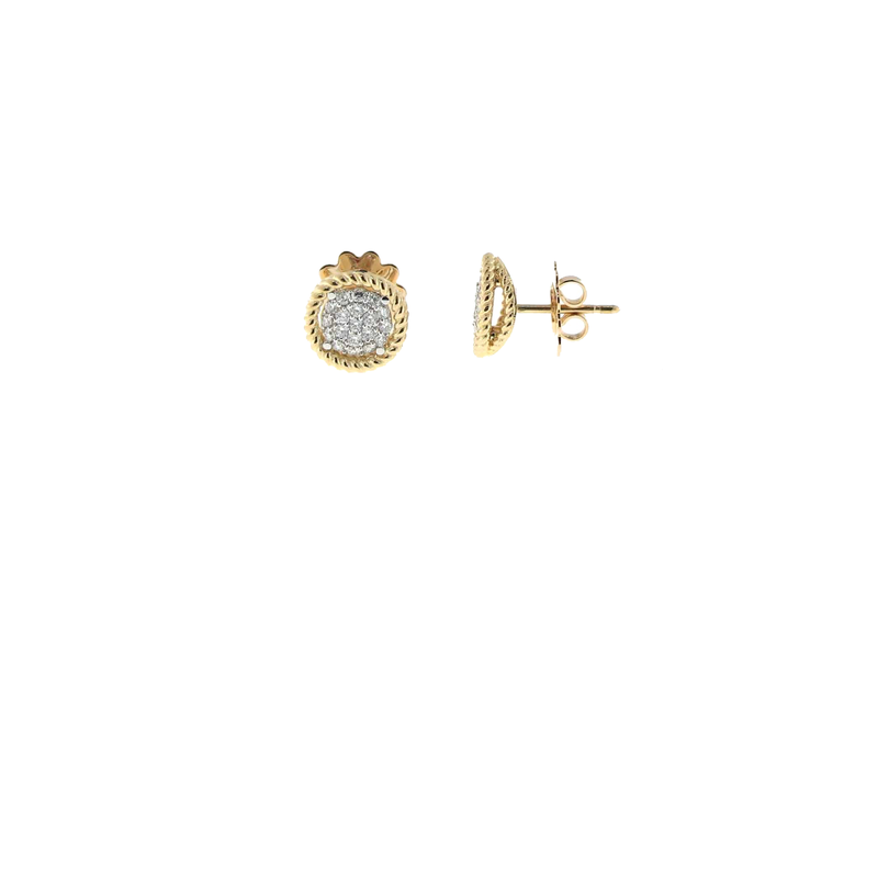 Roberto Coin 18KT YELLOW AND WHITE GOLD EARRINGS