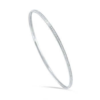 14K Diamond Slip On Bangle
