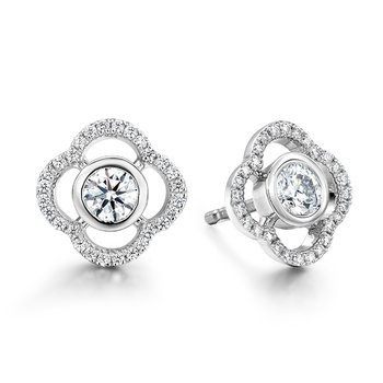 0.56 ctw. Signature Petal Bezel Earrings