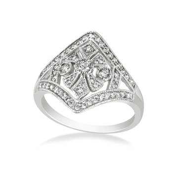 Vintage-inspired white gold & diamond fashion