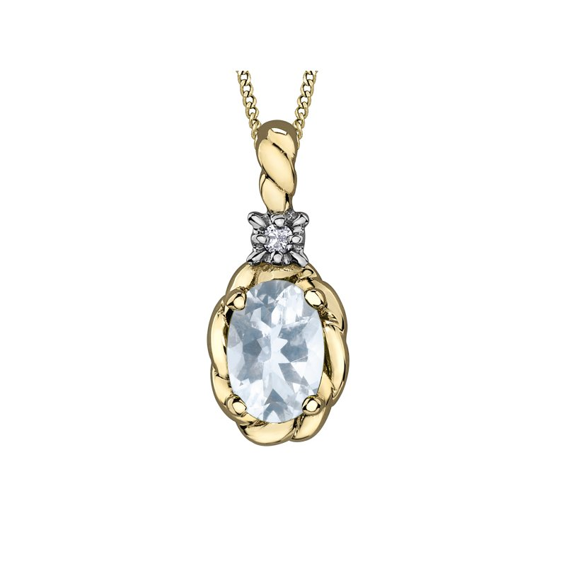 Diamond Days Aquamarine Pendant