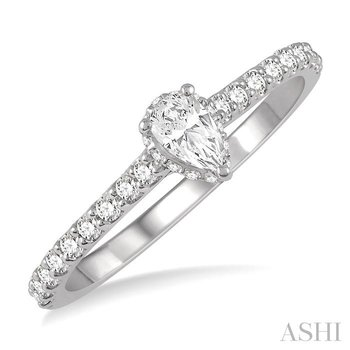 pear semi-mount diamond engagement ring