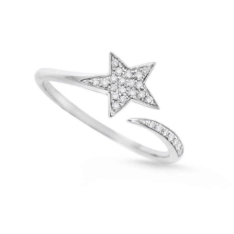 KC Designs Diamond Star Ring in 14K White Gold with 26 Diamonds Weighing .10ct tw