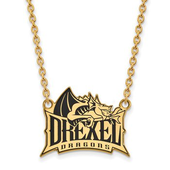 Gold-Plated Sterling Silver Drexel University NCAA Necklace