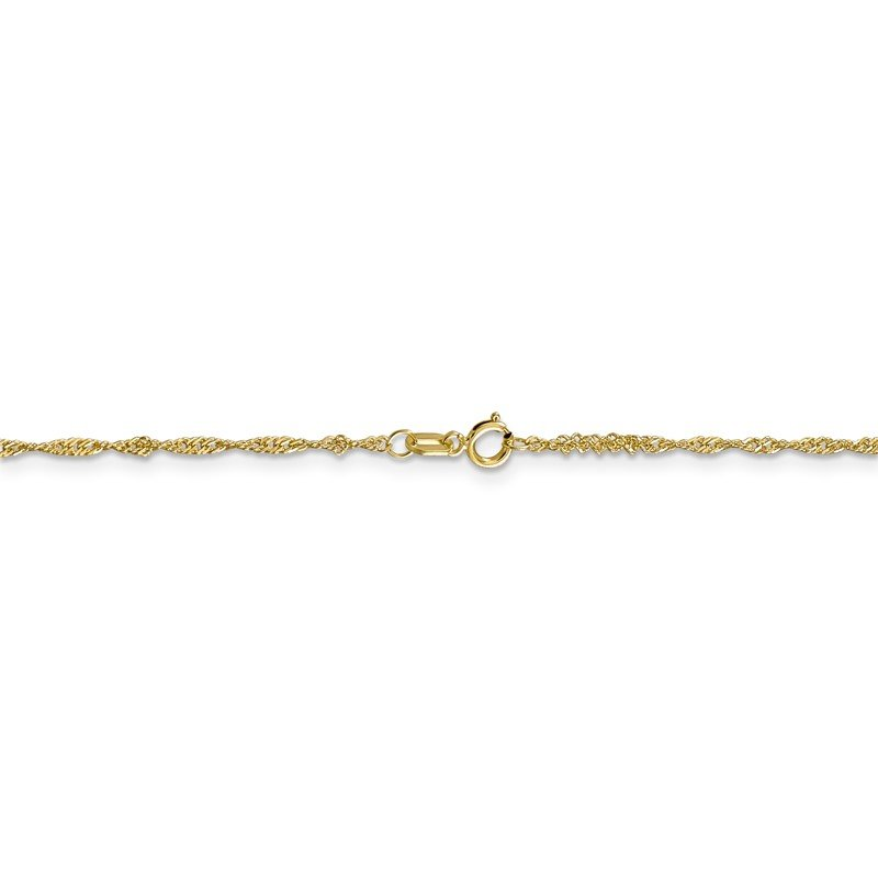 Quality Gold 10k 1.4mm Singapore Chain Anklet