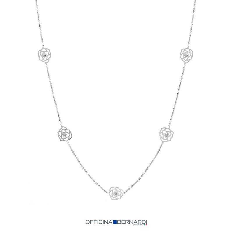 "Officina Bernardi 34"" STATION NECKLACE"
