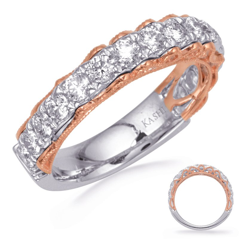 S. Kashi & Sons Bridal Rose & White Gold Diamond Band