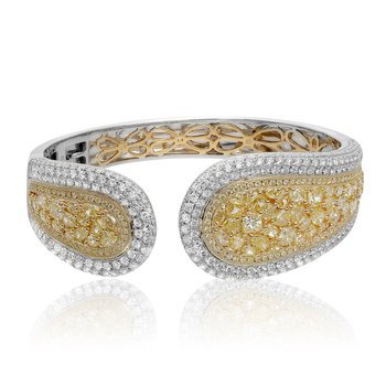 White & Yellow Diamond Fashion Bangle