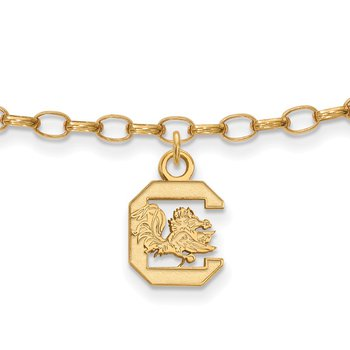 Gold-Plated Sterling Silver University of South Carolina NCAA Bracelet
