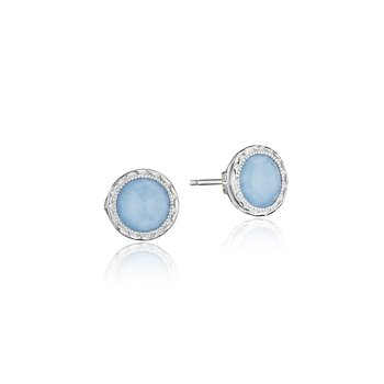 Petite Bezel Studs featuring Turquoise