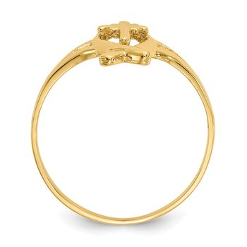 14k Ichthus w/Cross Ring