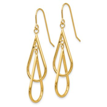 14k Fancy Hoop Dangle Earrings