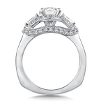 Valina Diamond Engagement Ring Mounting in 14K White Gold (.74 ct. tw.)