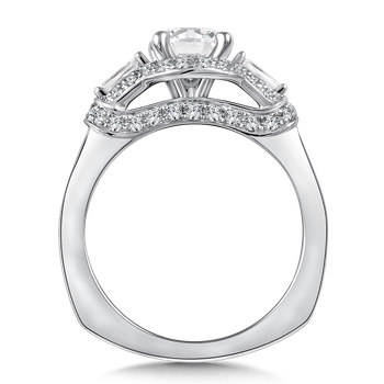 Diamond Engagement Ring Mounting in 14K White Gold (.74 ct. tw.)