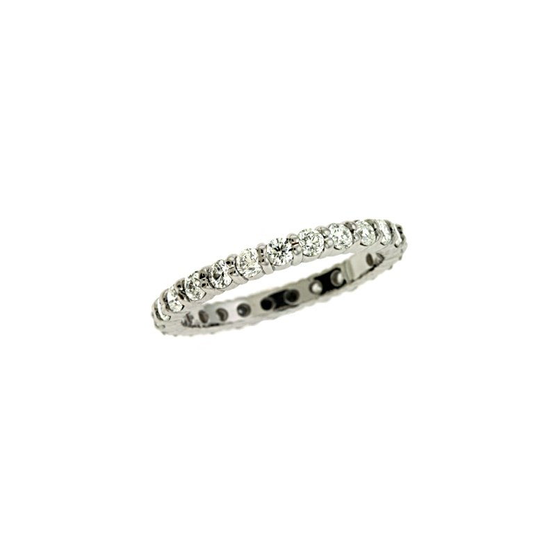 S. Kashi & Sons Bridal Platinum Shared Eternity Band