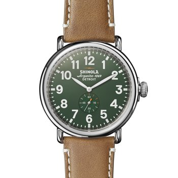 Runwell 47mm, Largo Tan Leather Strap