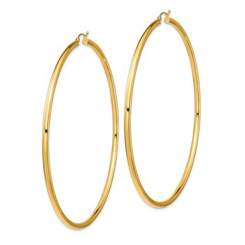 14k Lightweight 3mm Polished Hoop Earrings