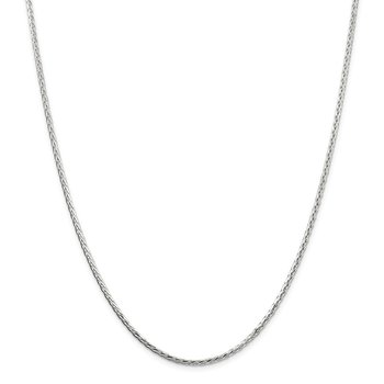 Sterling Silver 2.5mm Diamond-cut Spiga Chain