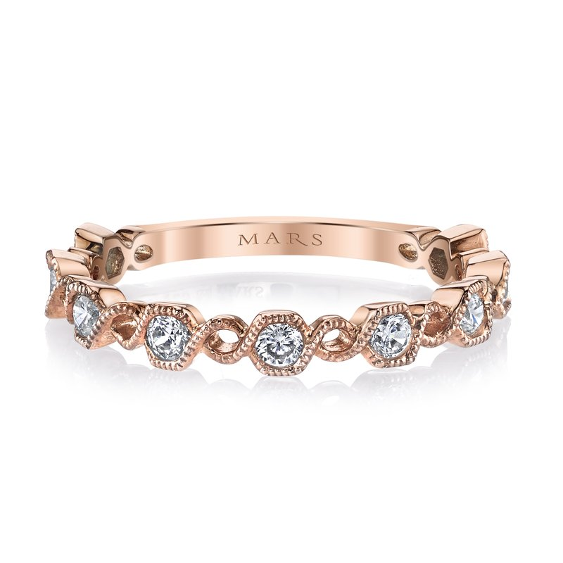 MARS Jewelry MARS 26212 Stackable Ring, 0.36 Ctw.
