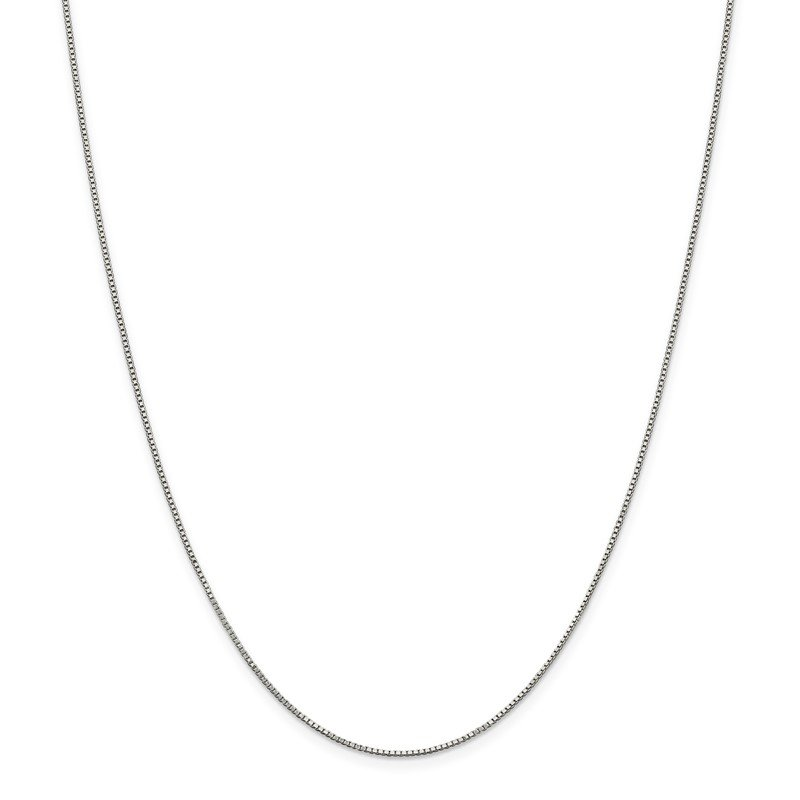 Quality Gold Sterling Silver Rhodium-plated .9mm Box Chain