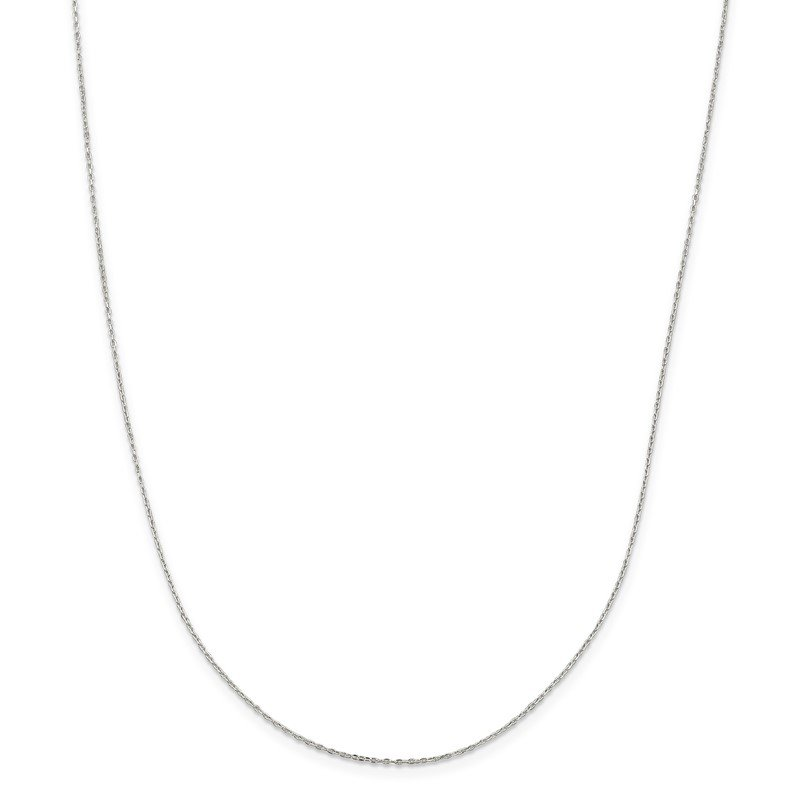 Arizona Diamond Center Collection Sterling Silver 1.2mm Diamond-cut Long Link Cable Chain
