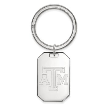 Sterling Silver Texas A&M University NCAA Key Chain