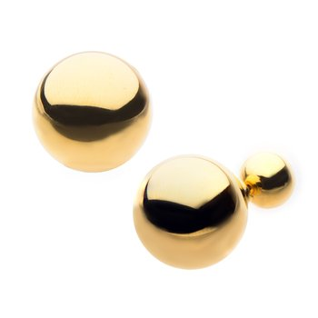 Gold Plated Double Sided Ball Stud Earring