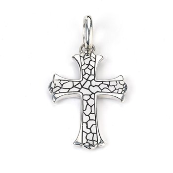 Pebbled Cross Pendant