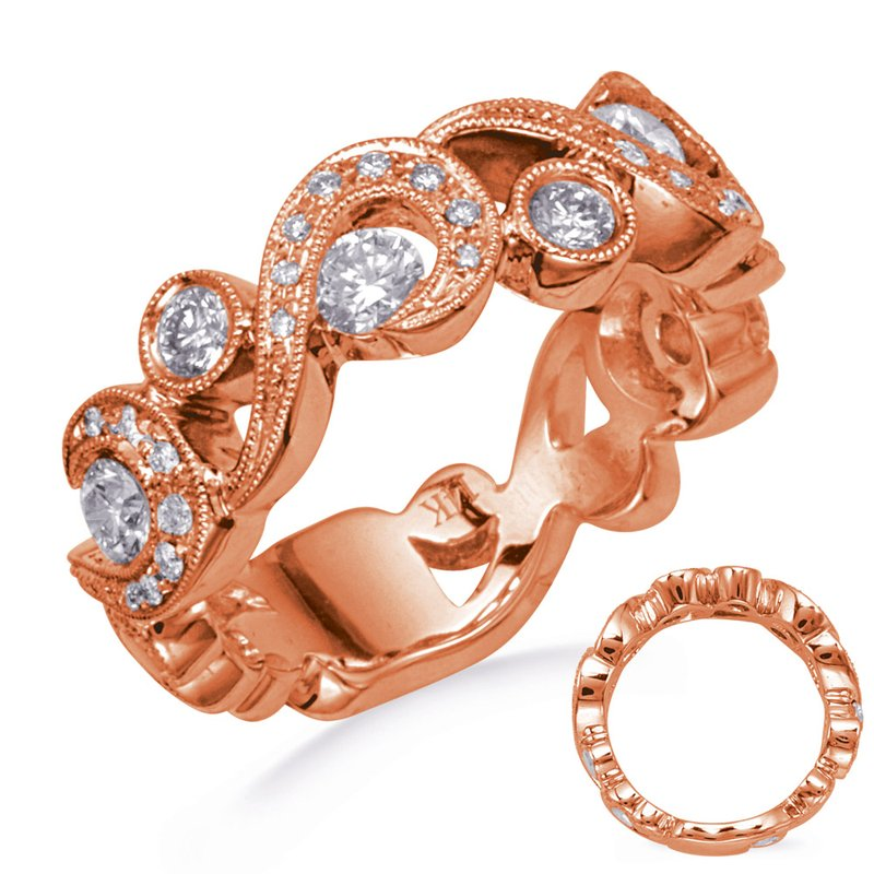 S. Kashi  & Sons Rose Gold Diamond Ring