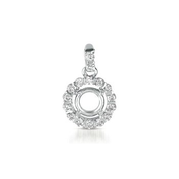 Diamond Pendant For 1/3ct Round Stone
