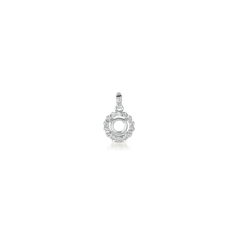 S. Kashi  & Sons Diamond Pendant For 1/3ct Round Stone