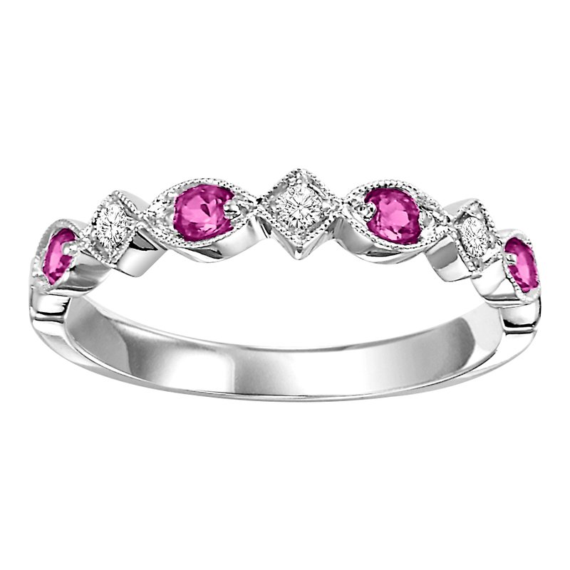 10K Ruby & Diamond Mixable Ring