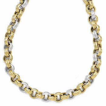Leslie's 14k Two-tone Polished Fancy Necklace