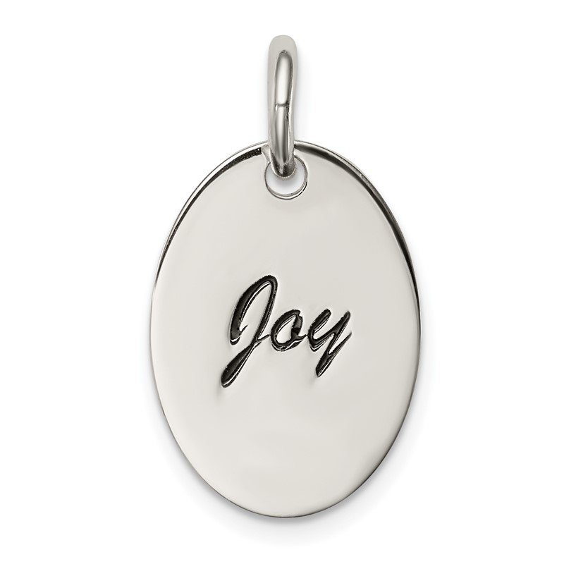 Quality Gold Sterling Silver Polished Enamel Joy Pendant
