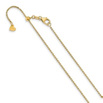Leslie's 14K 1.25 mm Flat Cable Adjustable Chain