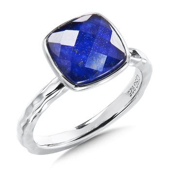 Sterling Silver Lapis Fuison Ring