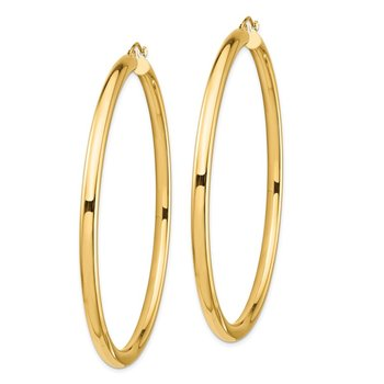14k Lightweight 4mm Polished Hoop Earrings