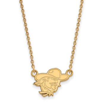 Gold Eastern Kentucky University NCAA Necklace
