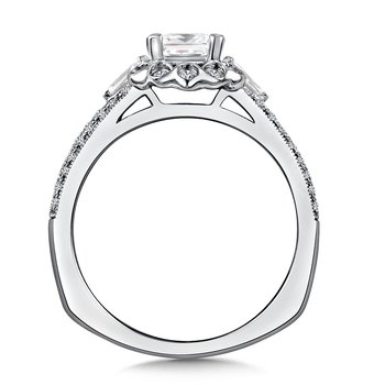Diamond Engagement Ring Mounting in 14K White/Rose Gold (1/4 ct. tw.)