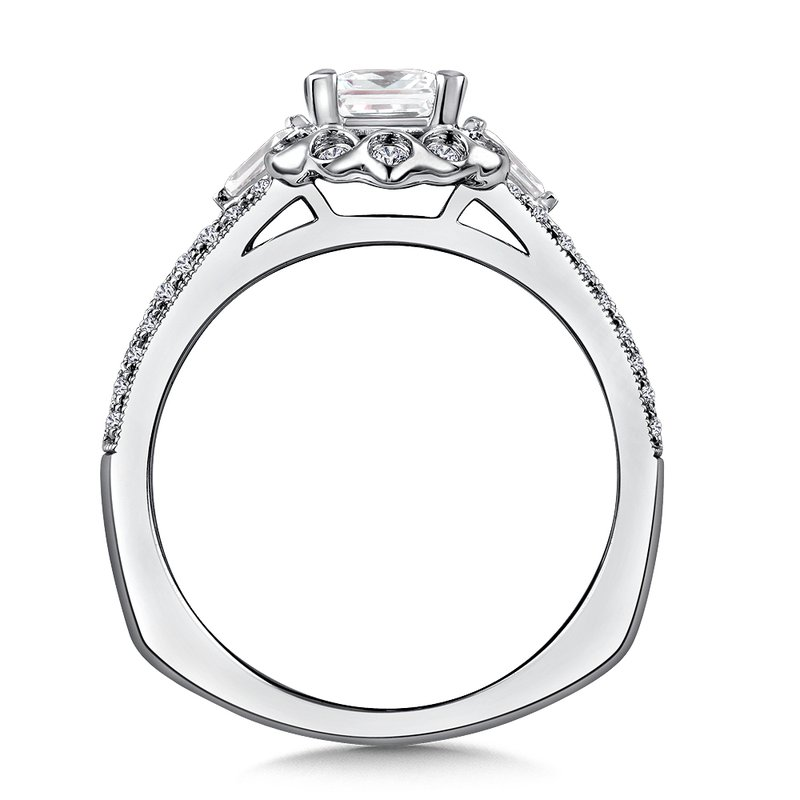 Valina Diamond Engagement Ring Mounting in 14K White/Rose Gold (1/4 ct. tw.)